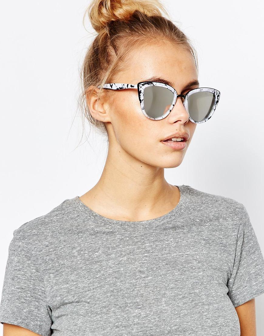 Quay Gold Cat Eye Sunglasses