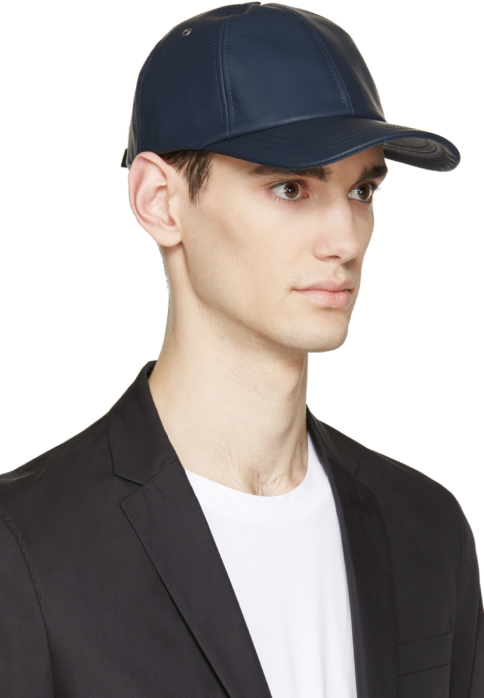 4843fbafc64 Lyst - A.P.C. Navy Coated Canvas Cap in Blue for Men