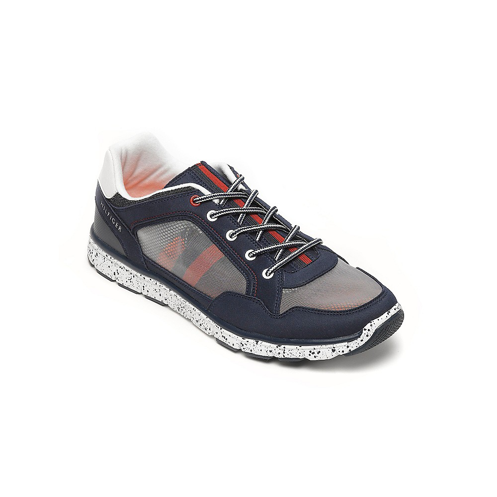 hilfiger athletic running shoe in blue th navy