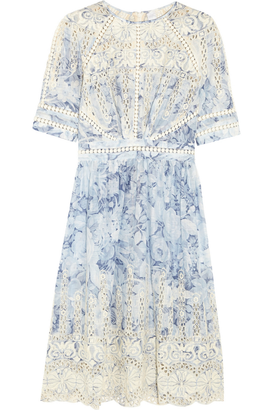 Lyst zimmermann confetti embroidered floral print cotton