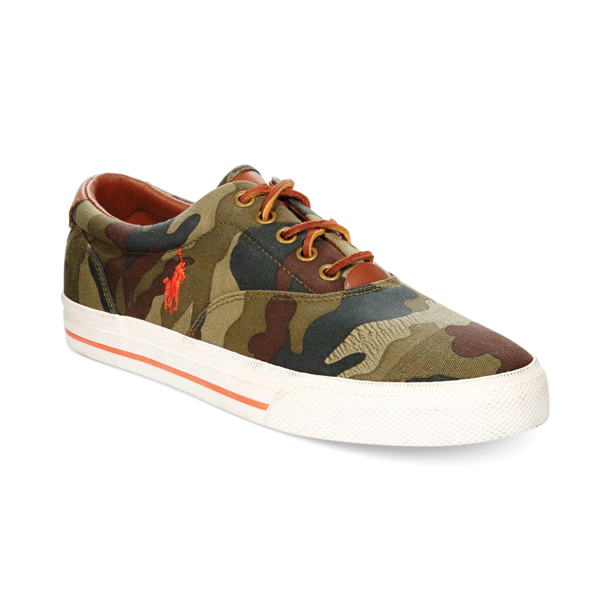 Ralph Lauren Polo Vaughn Camo Sneakers