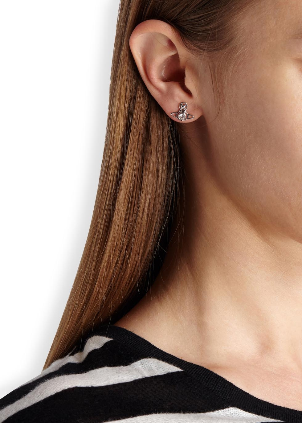 cebad2e914e3c Vivienne Westwood Metallic Nora Silver Tone Orb Earrings