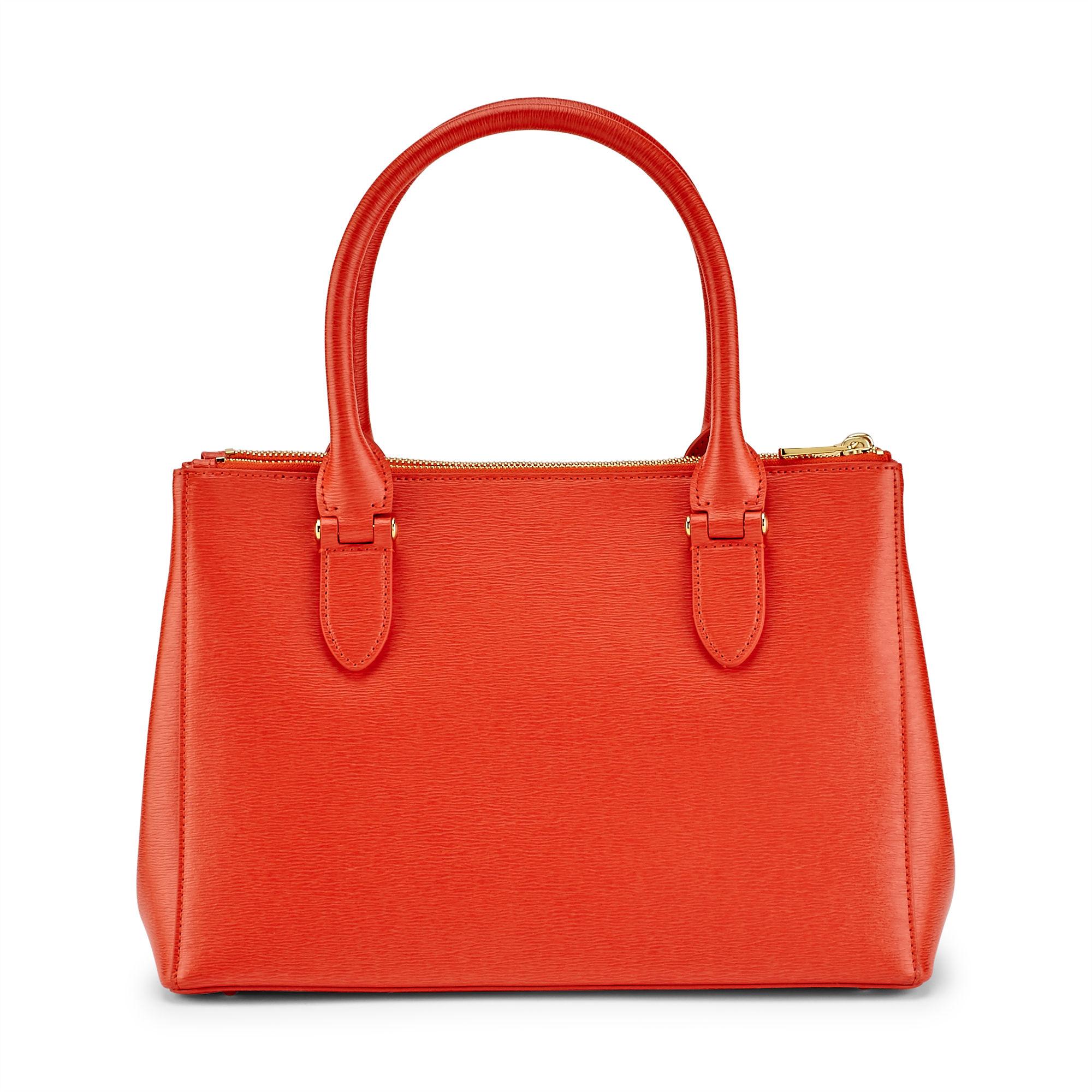 afb3830ae71 Ralph Lauren Newbury Double-zip Shopper in Orange - Lyst