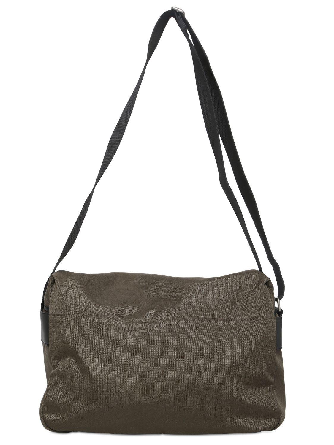 40a63b362f Lyst - Saint Laurent Hunting Nylon Canvas Messenger Bag in Green for Men