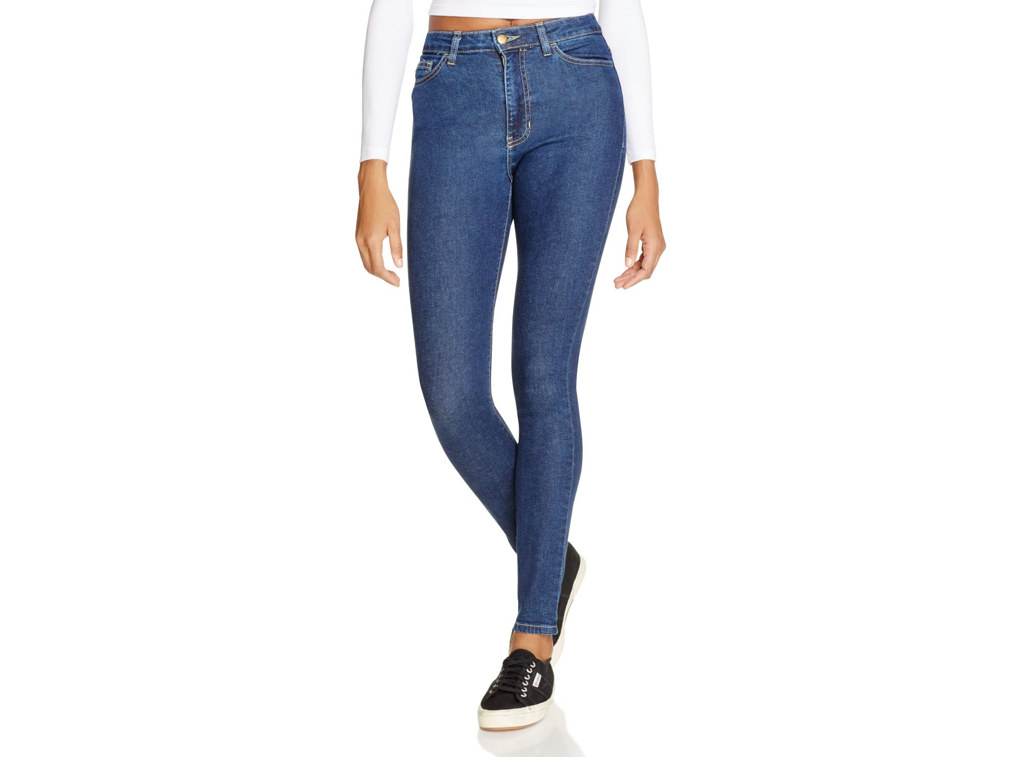 american apparel stretch denim pencil jeans in dark stone washed indigo in blue lyst. Black Bedroom Furniture Sets. Home Design Ideas
