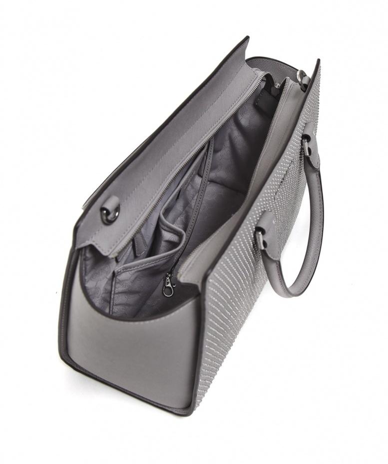 6c7f16744c102b MICHAEL Michael Kors Micro Stud Large Selma Tote Bag in Gray - Lyst