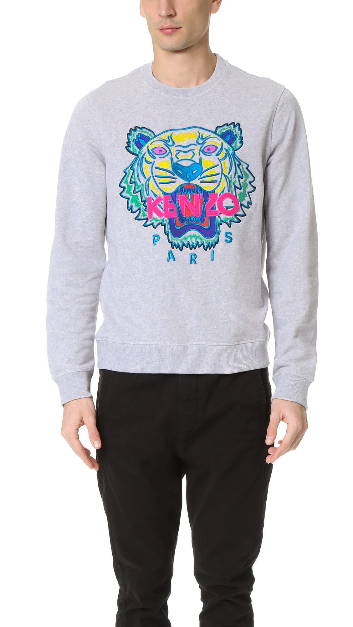 473df64945 KENZO White Tiger Sweatshirt for men