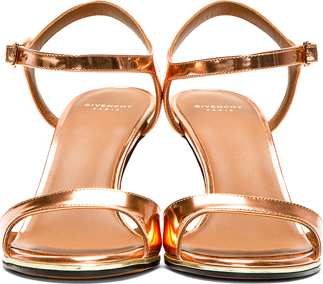 Lyst Givenchy Bright Copper Patent Leather Sandals In