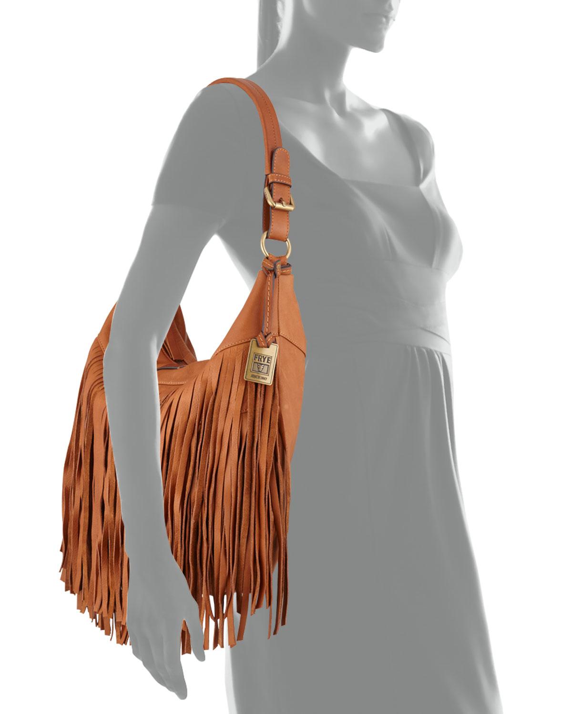 5a2c066773e4 Frye Heidi Leather Fringe Hobo Bag in Brown