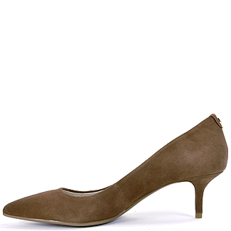 Lyst - Michael michael kors Kitten Heel Pump in Brown