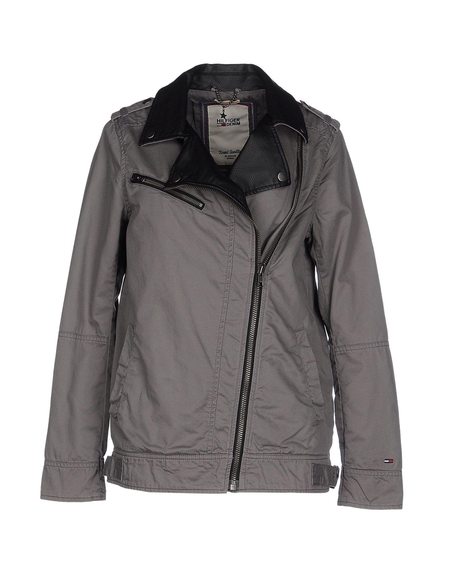 hilfiger denim jacket in gray for men lyst. Black Bedroom Furniture Sets. Home Design Ideas