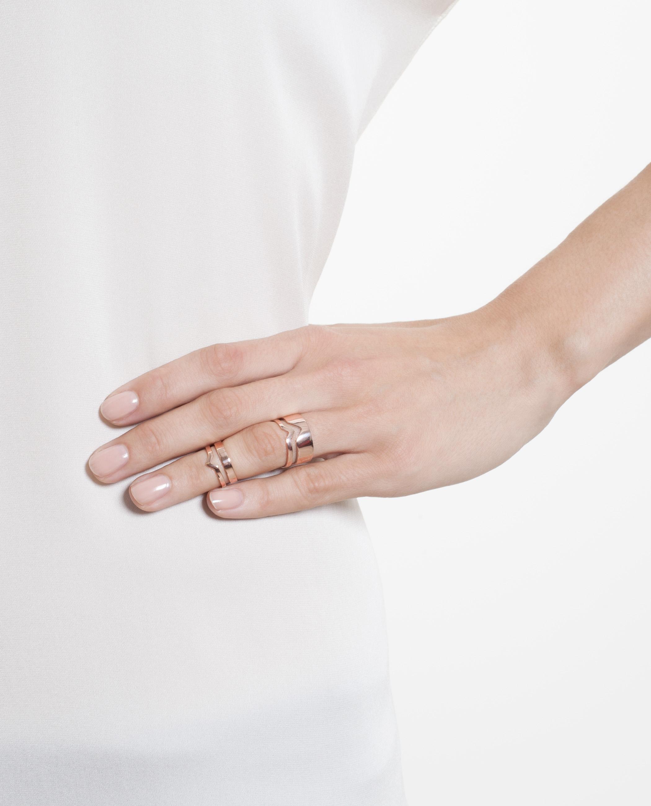Maria Black Twin ring - Metallic 4R0ZCRd