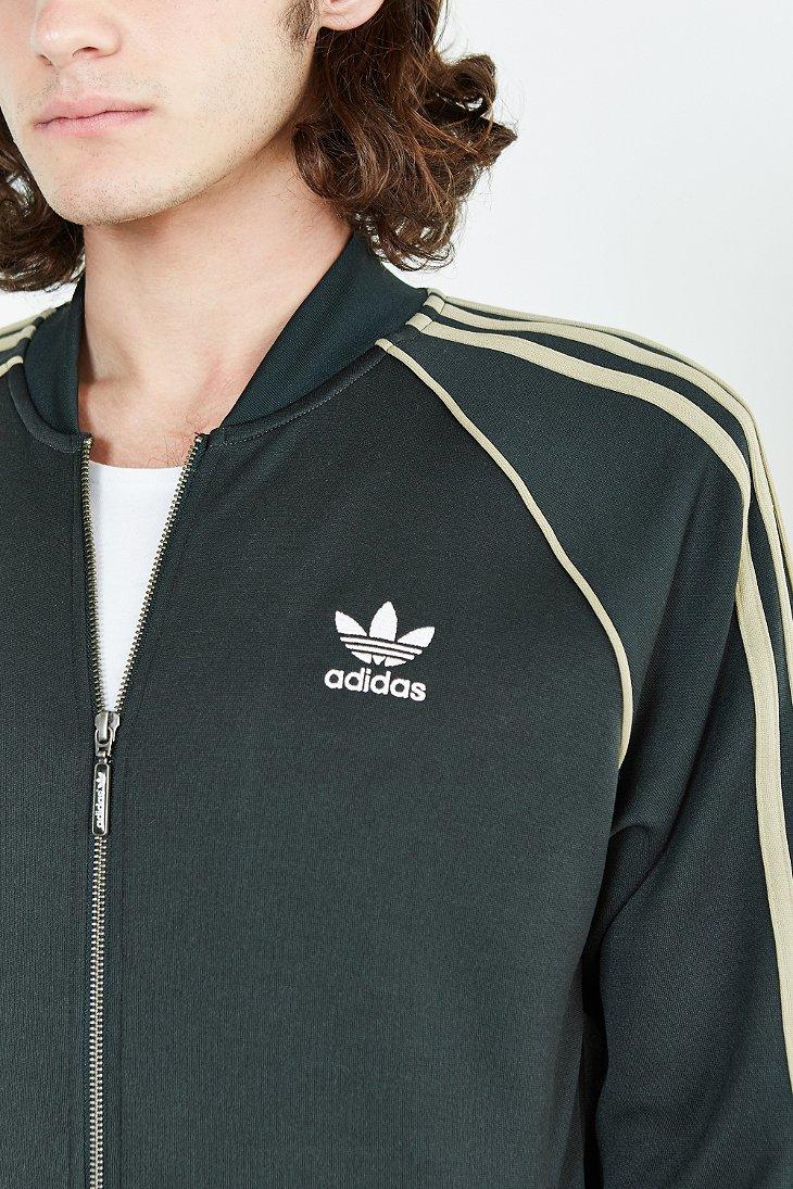 Lyst Adidas Superstar Track Jacket In Green For Men