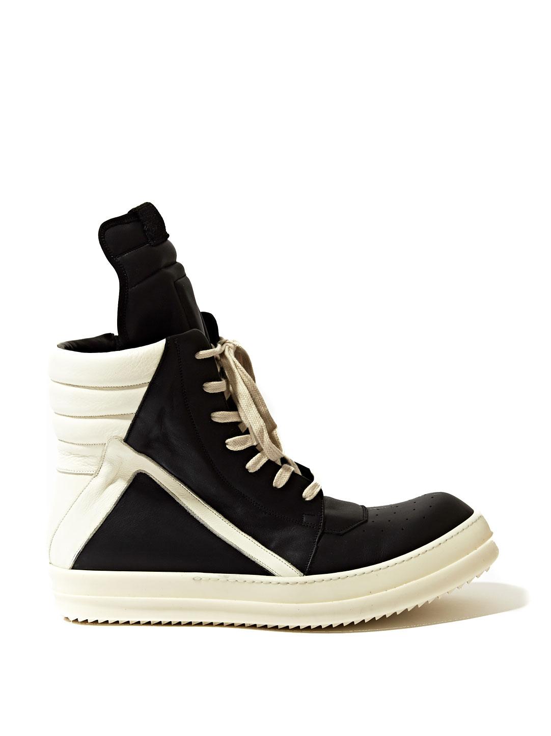 rick owens mens geobasket sneakers in black for men lyst. Black Bedroom Furniture Sets. Home Design Ideas