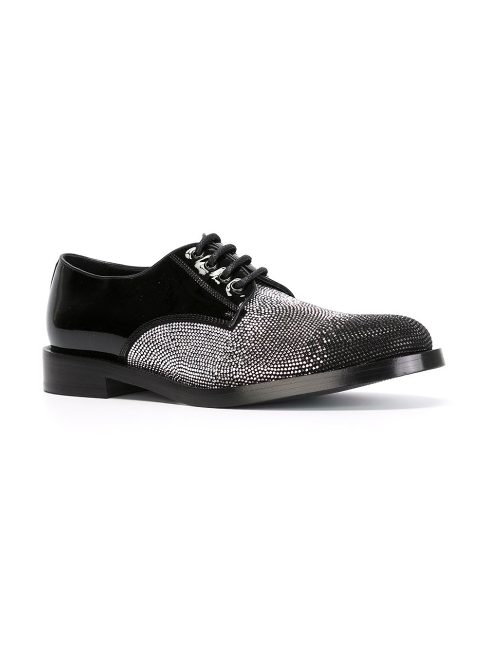 jimmy choo ewert derby shoes in black for lyst