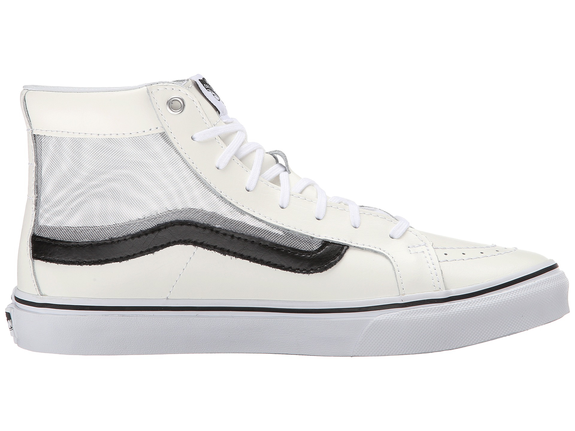 e23bee7d4a Lyst - Vans Sk8-hi™ Slim Cutout in White