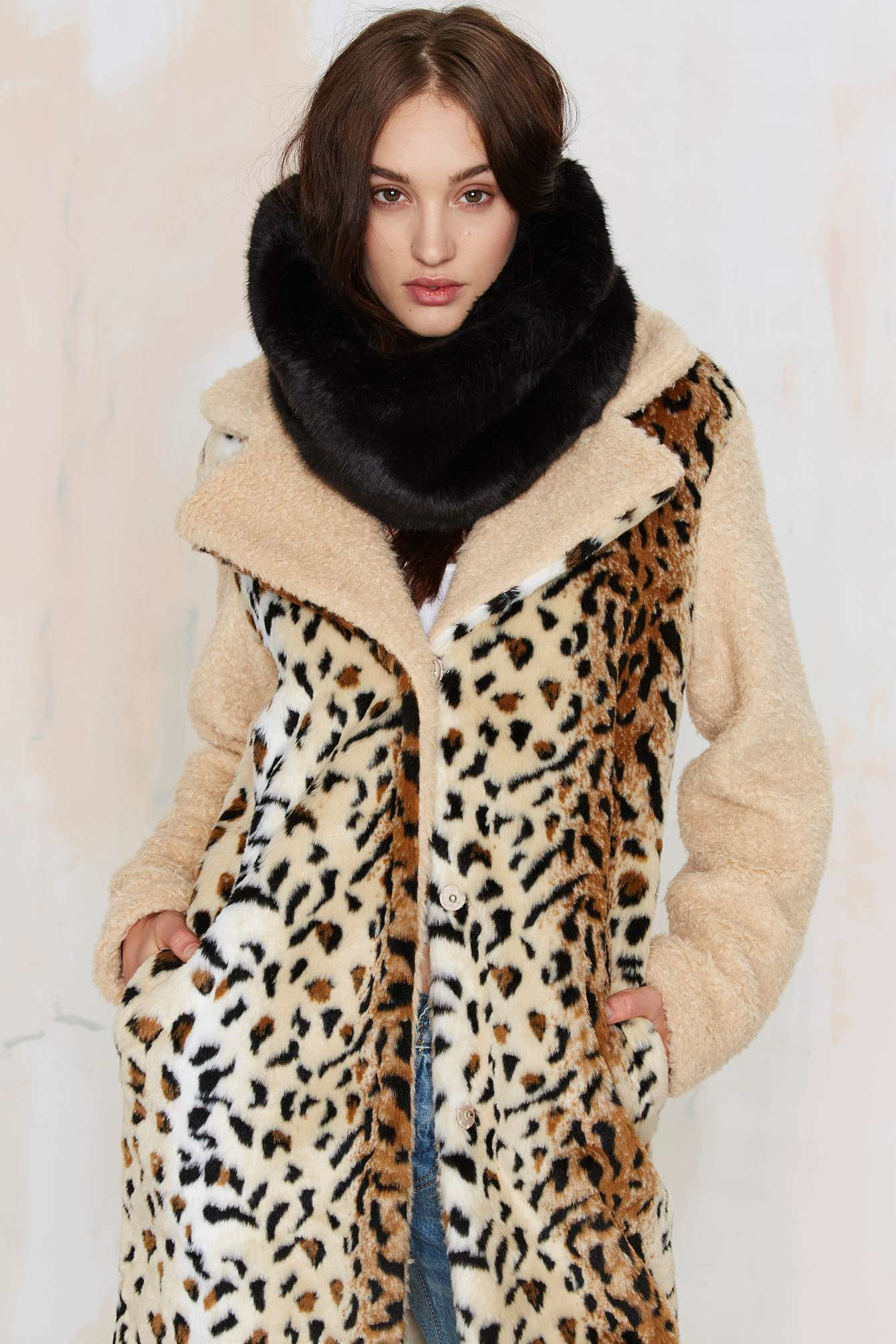nyc vault scarf faux fur beauty infinity product
