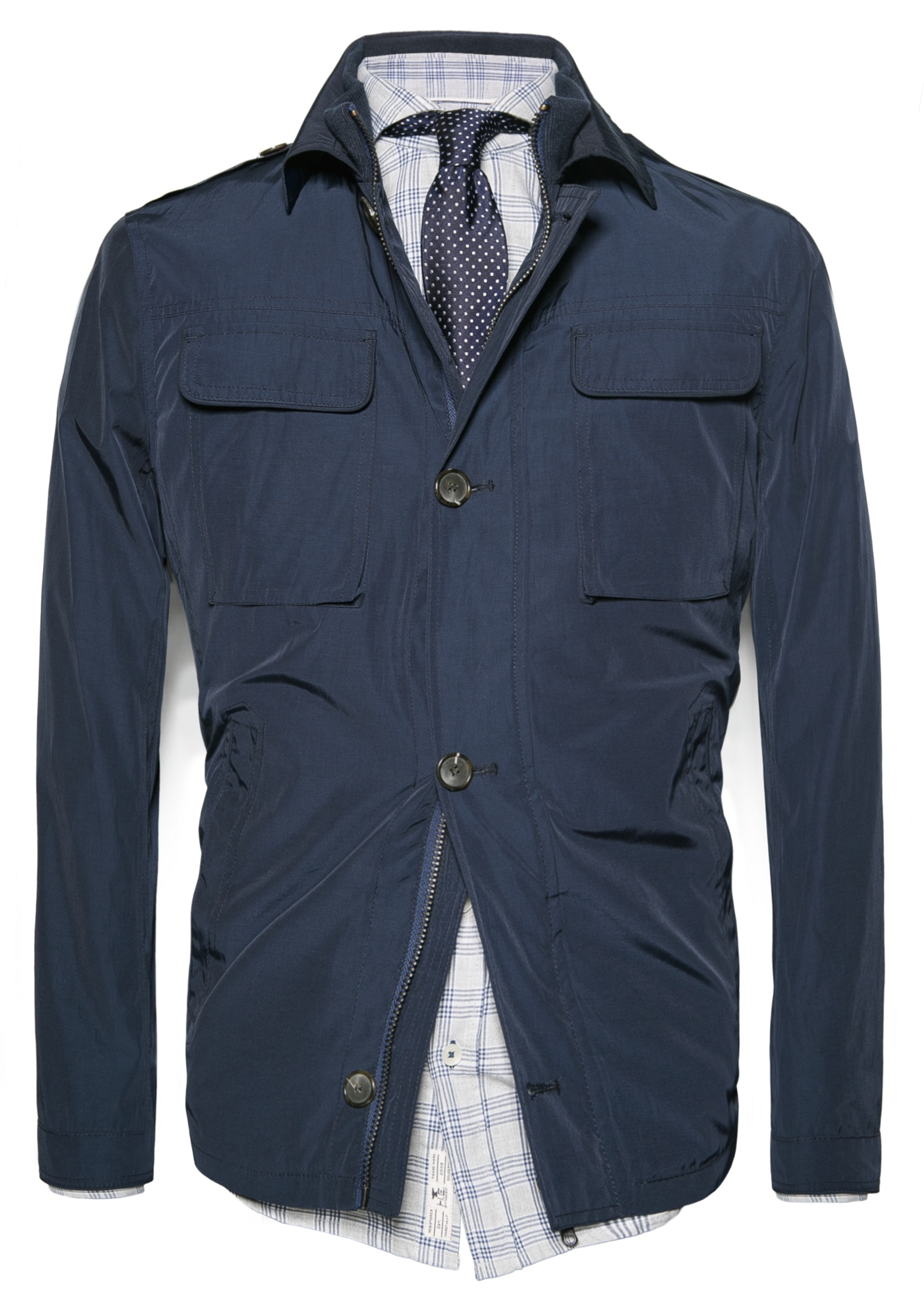 Lyst Mango Epaulette Field Jacket In Blue For Men