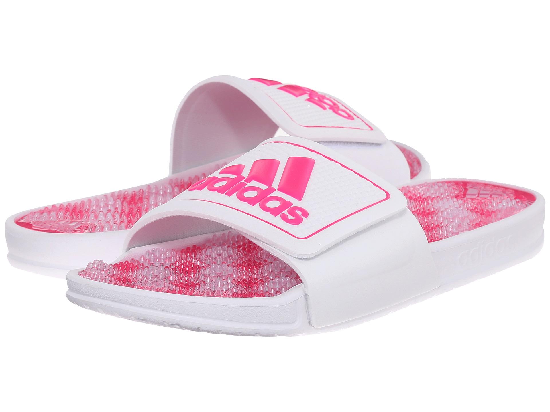 Lyst - adidas Originals Adissage 2.0 Logo in White 7c8a5b597