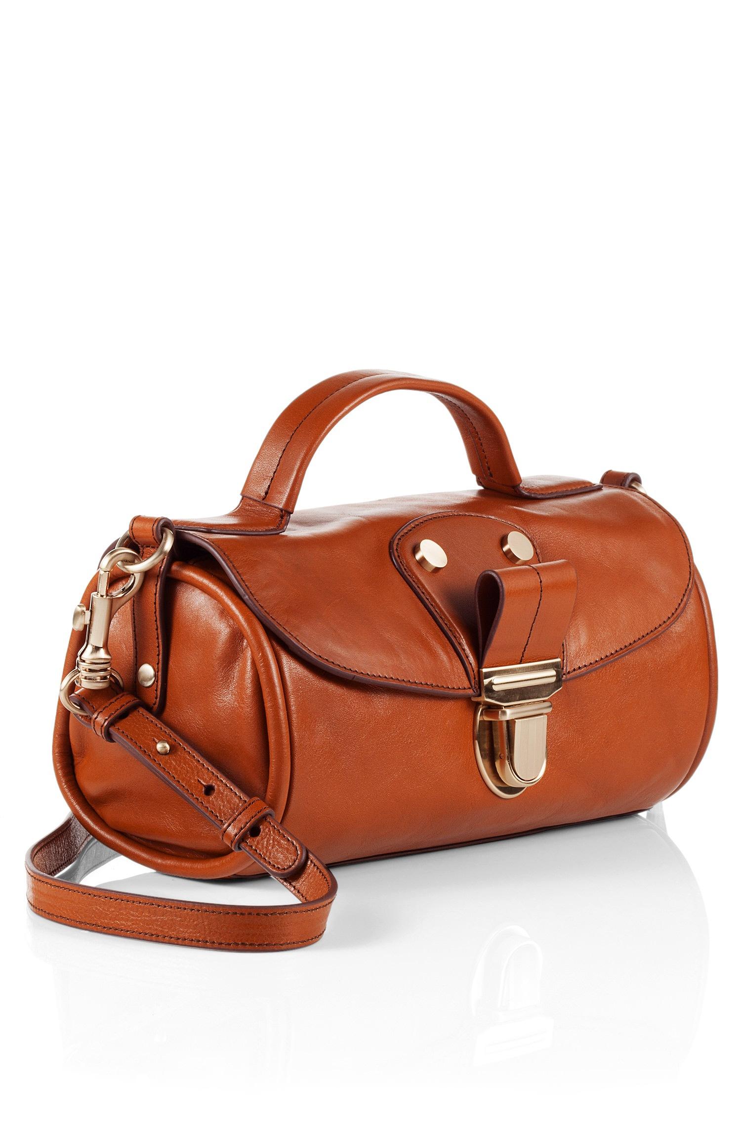6aa532f1838 BOSS Orange Leather Crossbody Bag 'Soraya' in Brown - Lyst