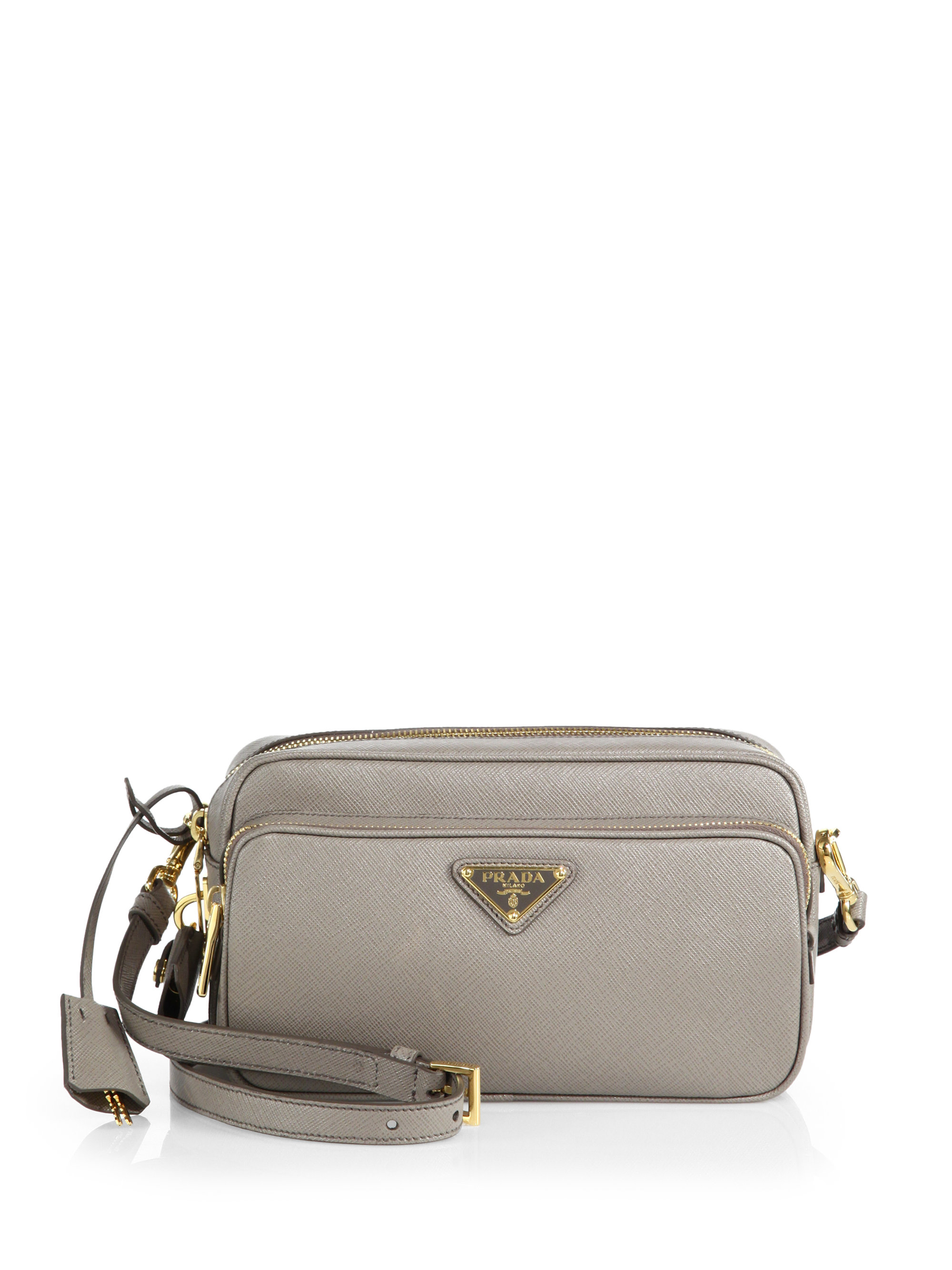 buy authentic prada online - Prada Saffiano Lux Double-zip Crossbody Bag in Gray (ARGILLA-GREY ...
