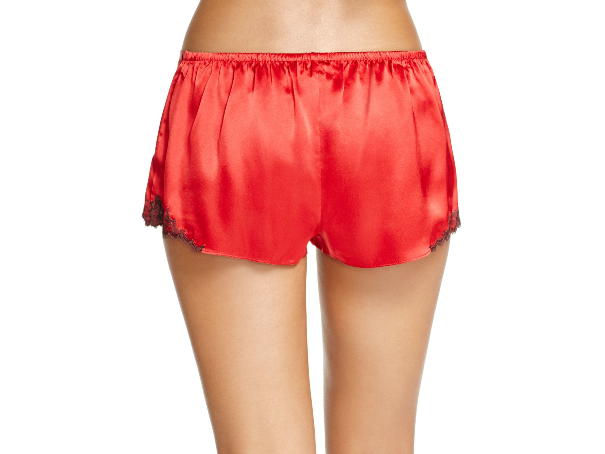 Red Silk Shorts
