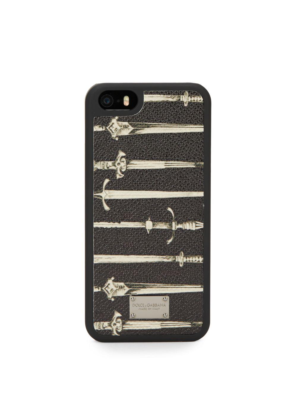 Dolce & gabbana Sword Iphone 5/5S Case in Black for Men | Lyst