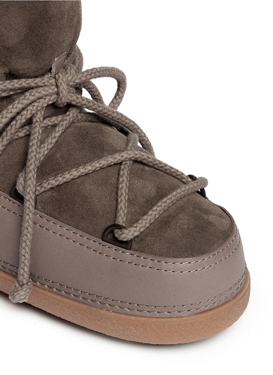 Ikkii 'classic Low' Lambskin Shearling Boots in Brown