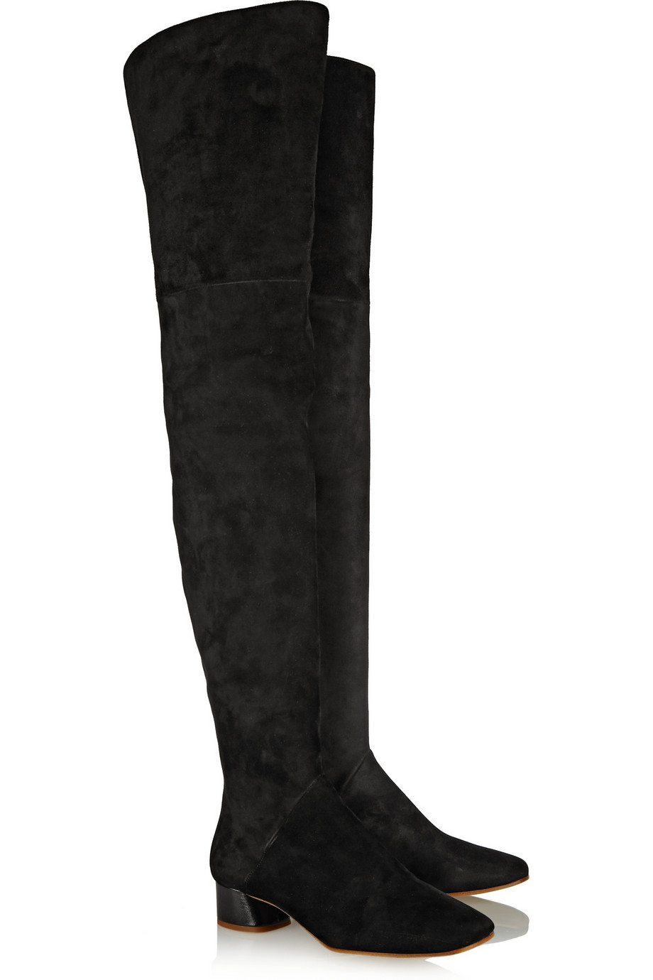 Marc Jacobs Suede Over-The-Knee Boots in Black