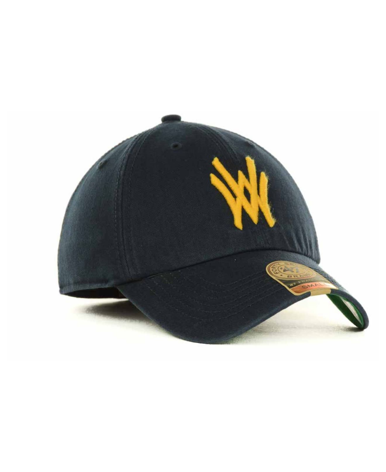 baab441281a22 ... shopping lyst 47 brand west virginia mountaineers franchise cap in blue  for men 42465 a91f8