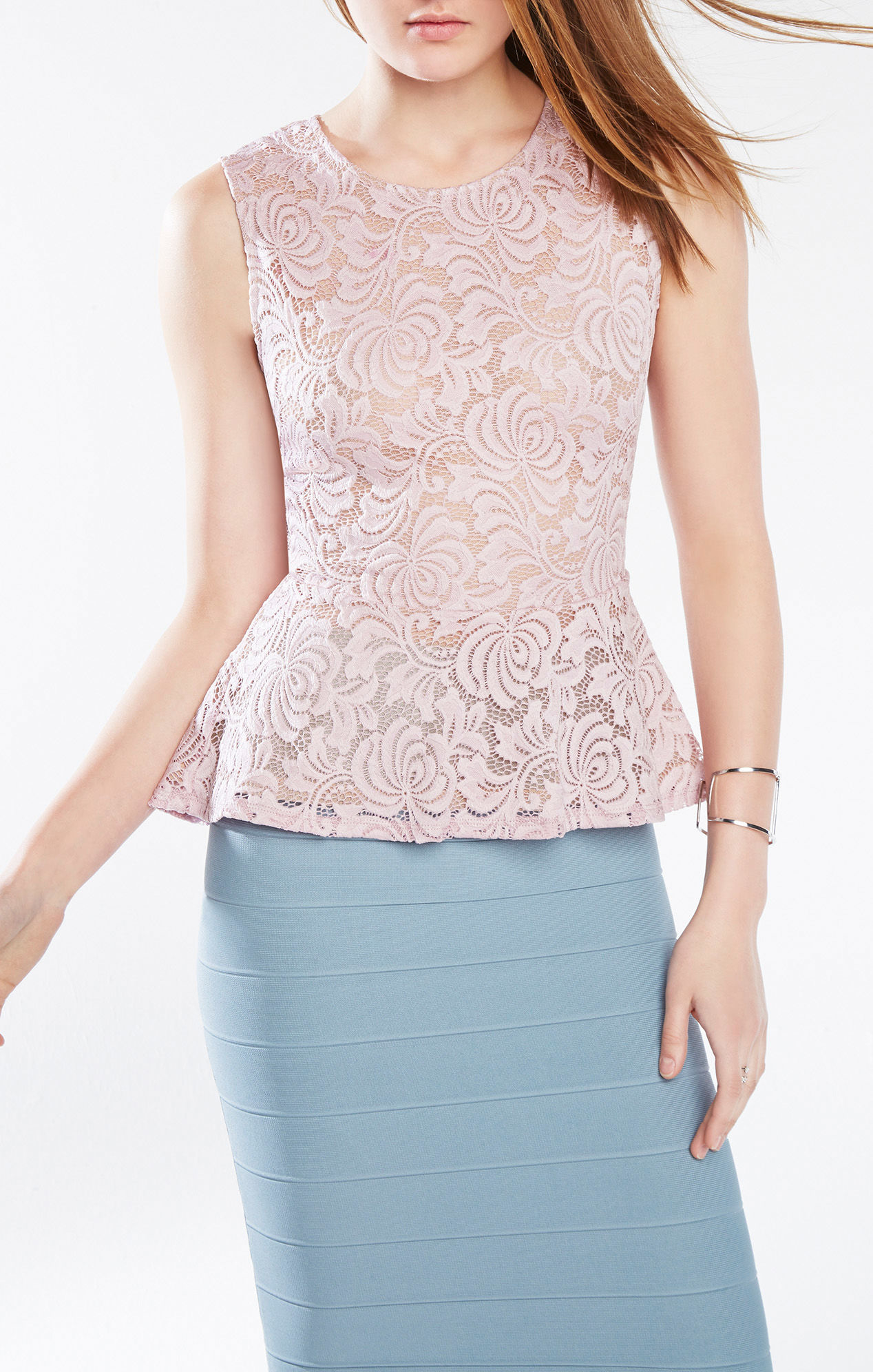 Stretch Floral Lace 3/4 Sleeve Peplum Top Play Video Automatically Previously recorded videos may contain expired pricing, exclusivity claims, or promotional offers/5.