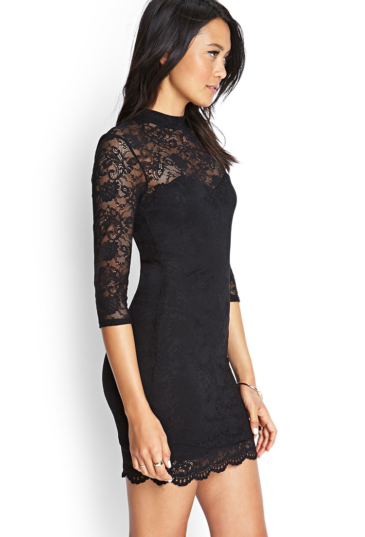 Black Lace Dress Forever 21
