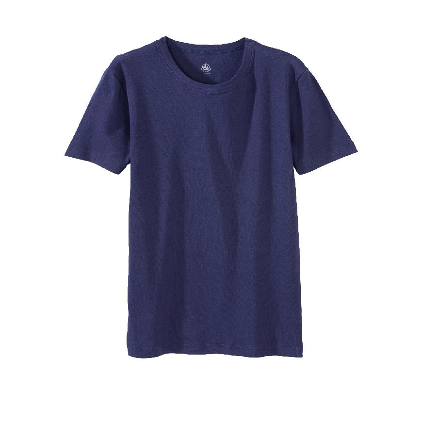 petit bateau men 39 s round neck tee in blue for men lyst. Black Bedroom Furniture Sets. Home Design Ideas