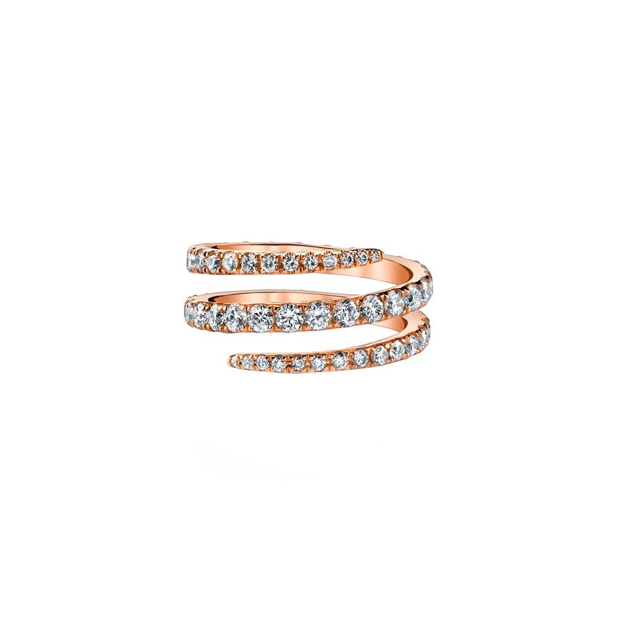 Anita Ko Diamond Pinky Coil Ring In Pink Lyst