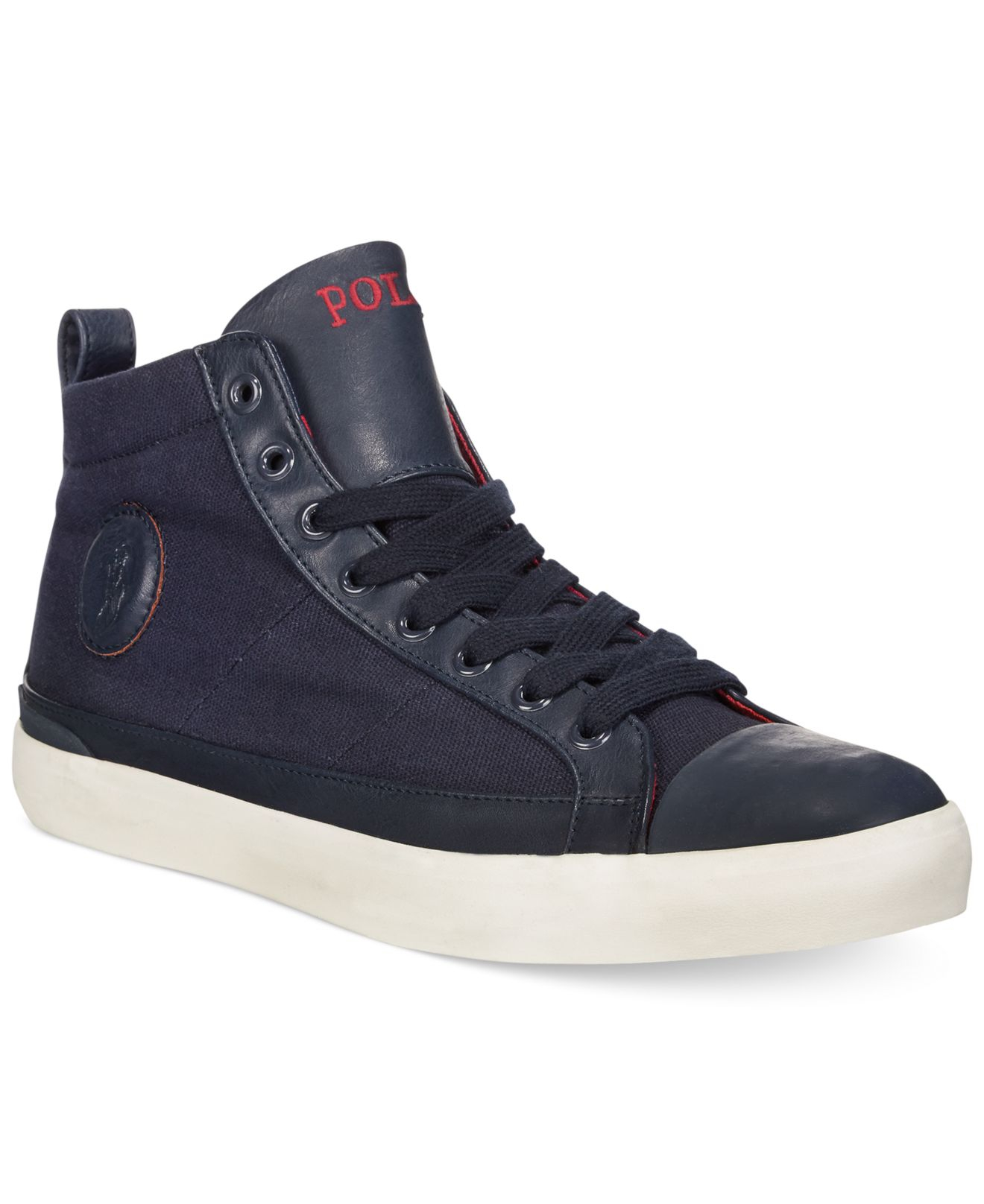 polo ralph lauren clarke canvas sneakers in blue for men lyst. Black Bedroom Furniture Sets. Home Design Ideas