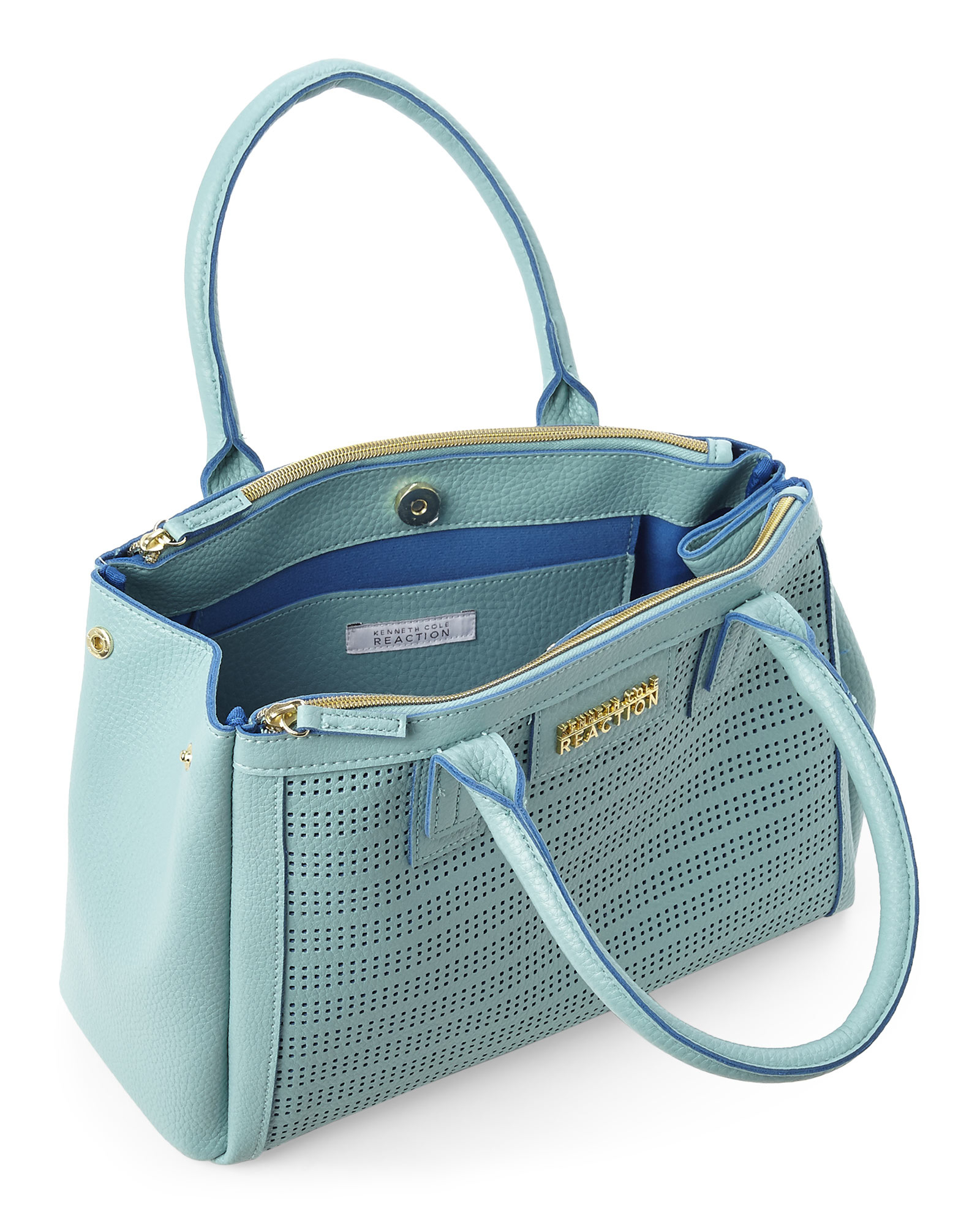 Kenneth cole reaction Turquoise Vineyard Satchel in Blue | Lyst