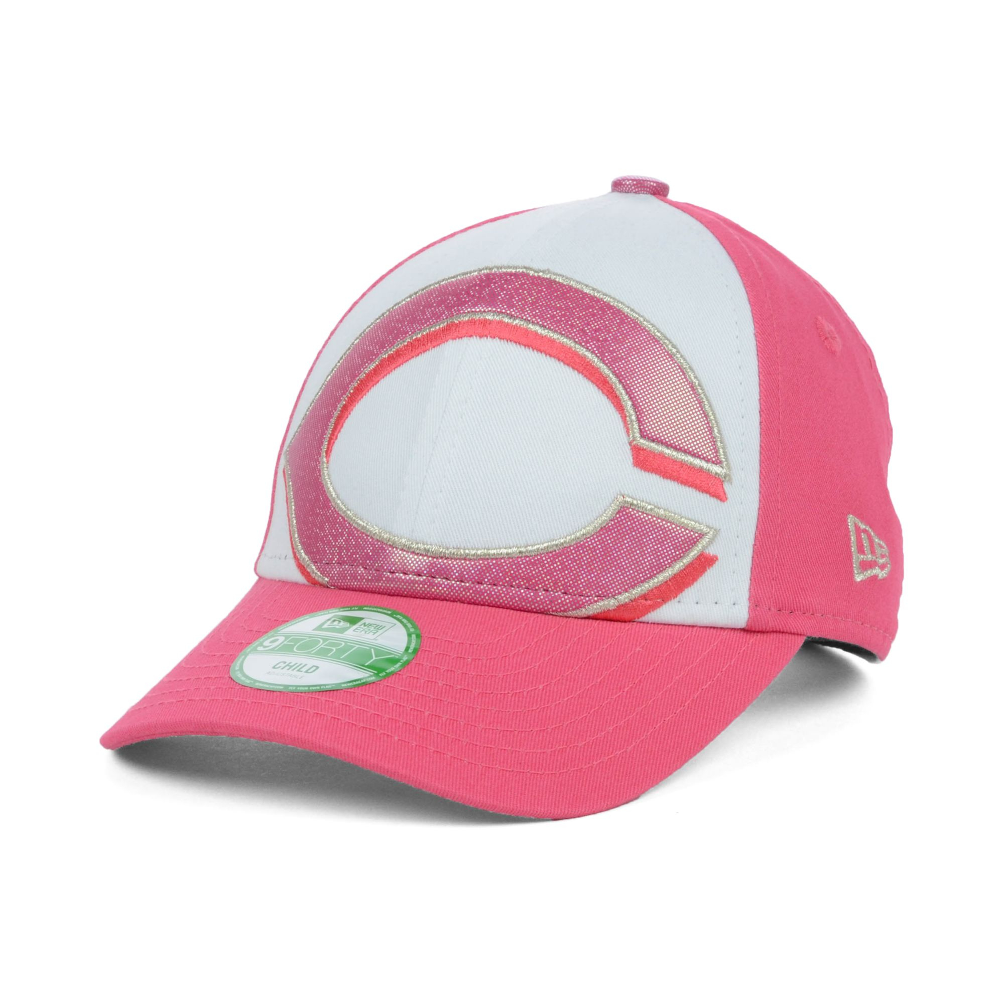 timeless design 0bbac 82cd0 ... promo code for lyst ktz kids cincinnati reds glitter filler 9forty cap  in pink 24dc0 6b72e
