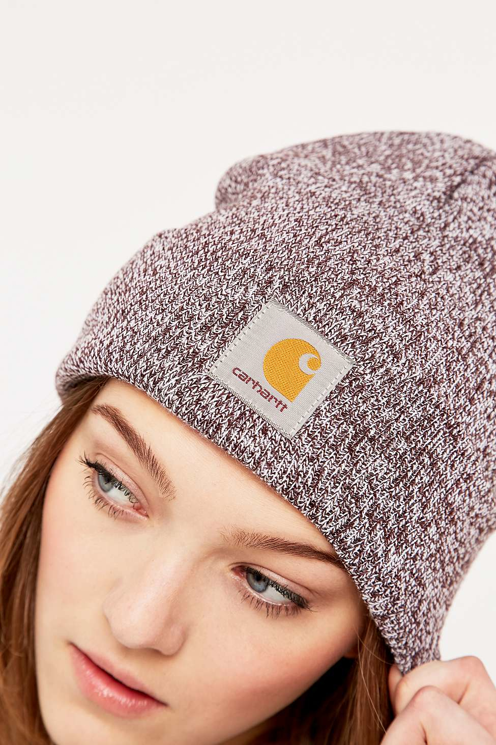 ef156e466ab4a Carhartt Damson And White Scott Watch Hat in Gray - Lyst
