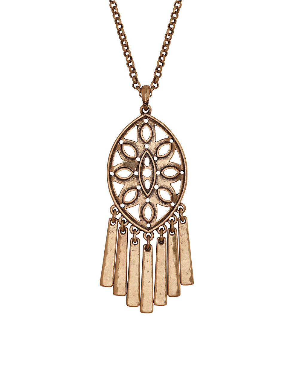 robert morris pav 233 nugget necklace necklaces lucky brand heritage fringed medallion necklace in