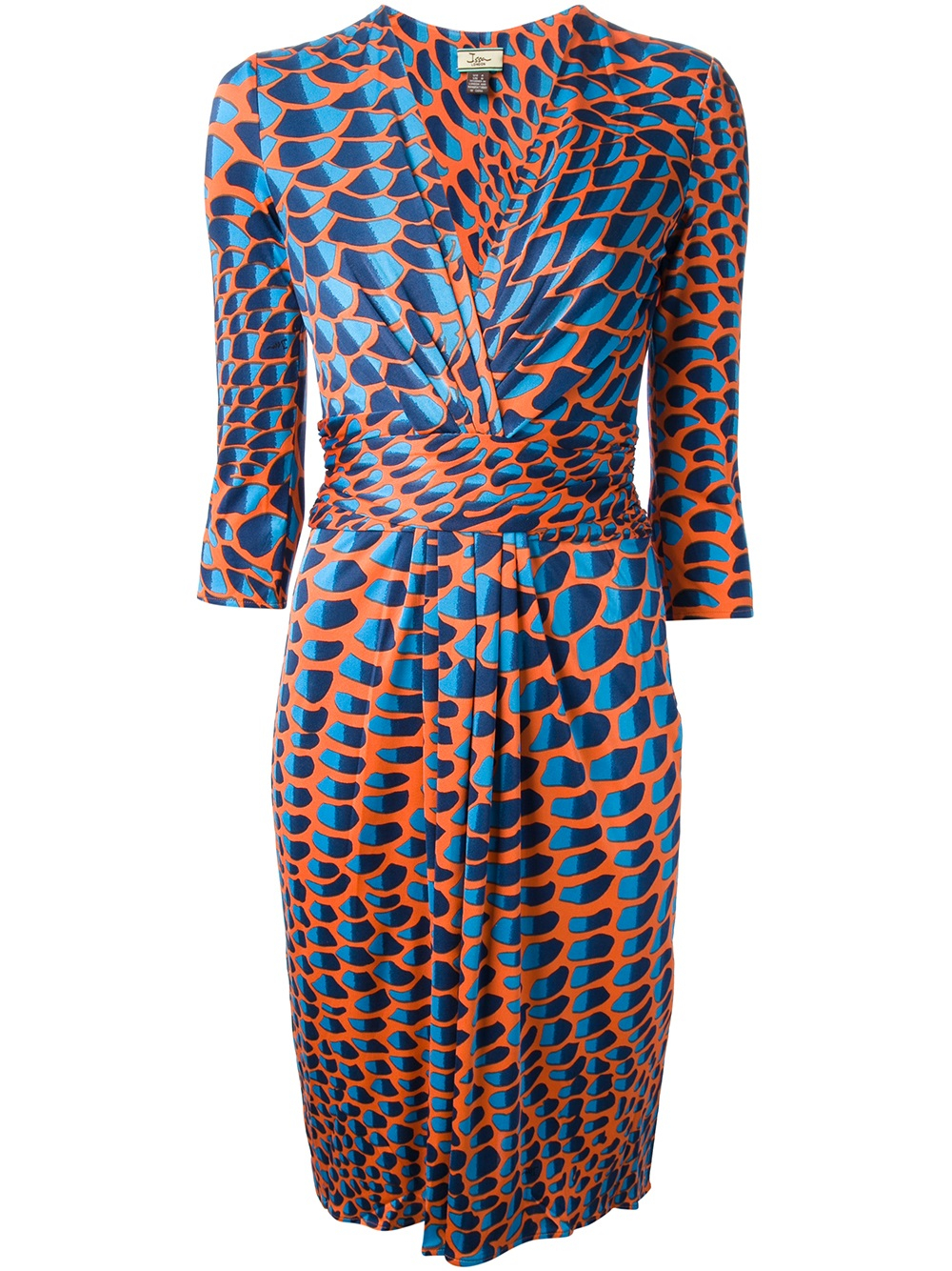 Issa Abstract Print Dress in Blue