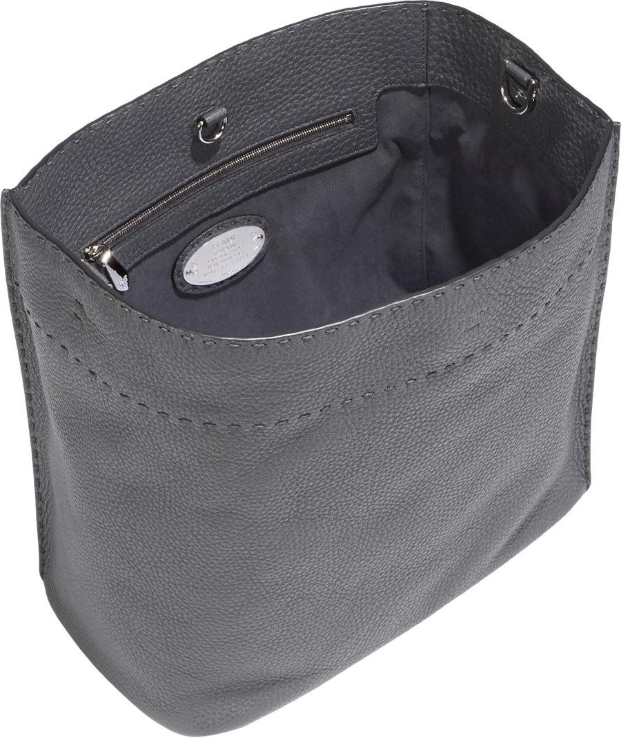 11b9b7da9f Fendi Selleria Anna Bag in Gray - Lyst