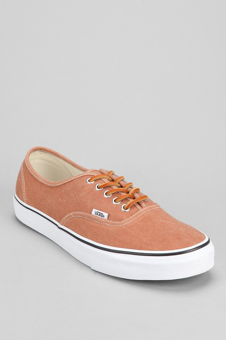 2a3bf7c8ba45e0 Lyst - Vans Authentic Brushed Twill Mens Sneaker in Brown for Men