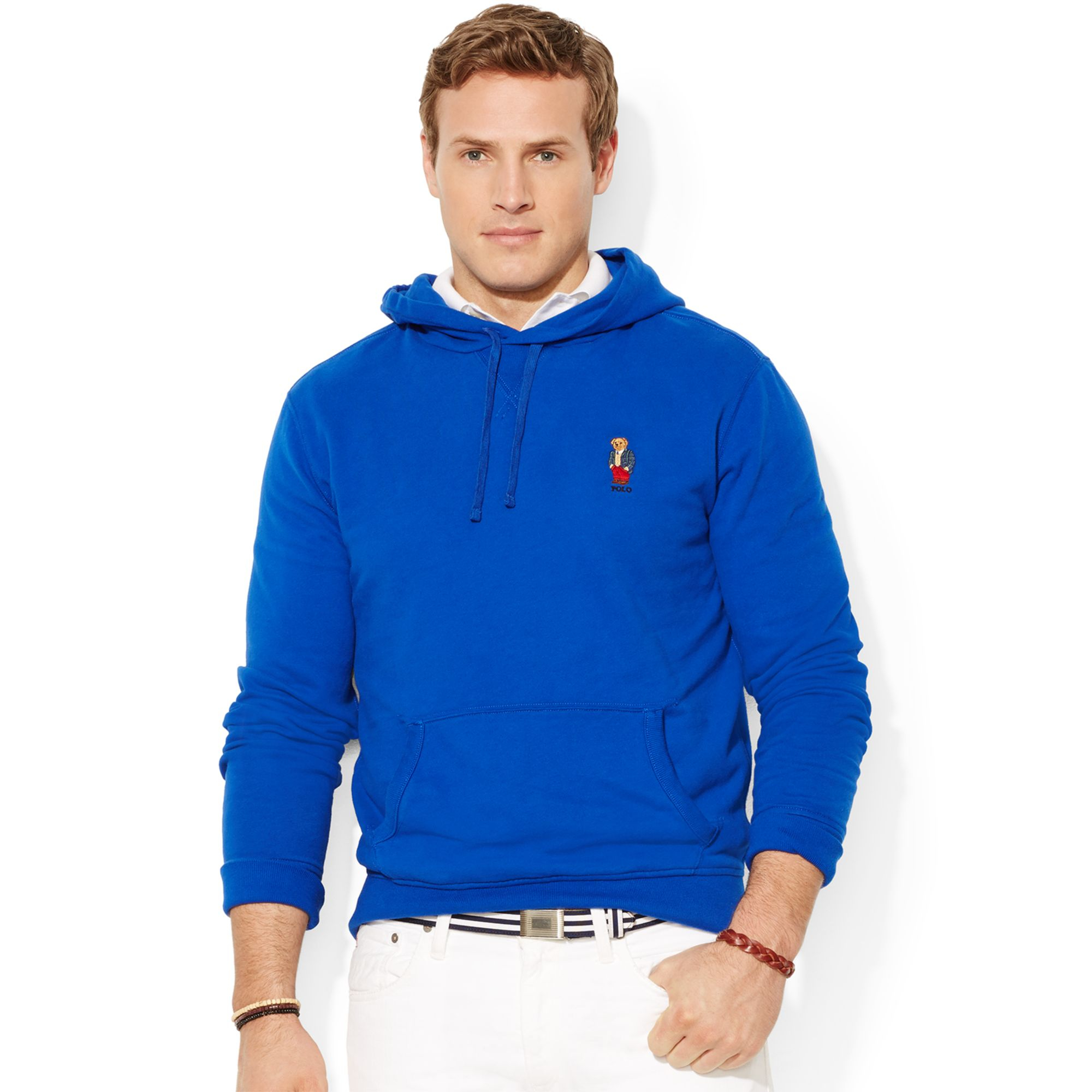 Polo Ralph Lauren Big And Tall Bear Pullover Fleece Hoodie