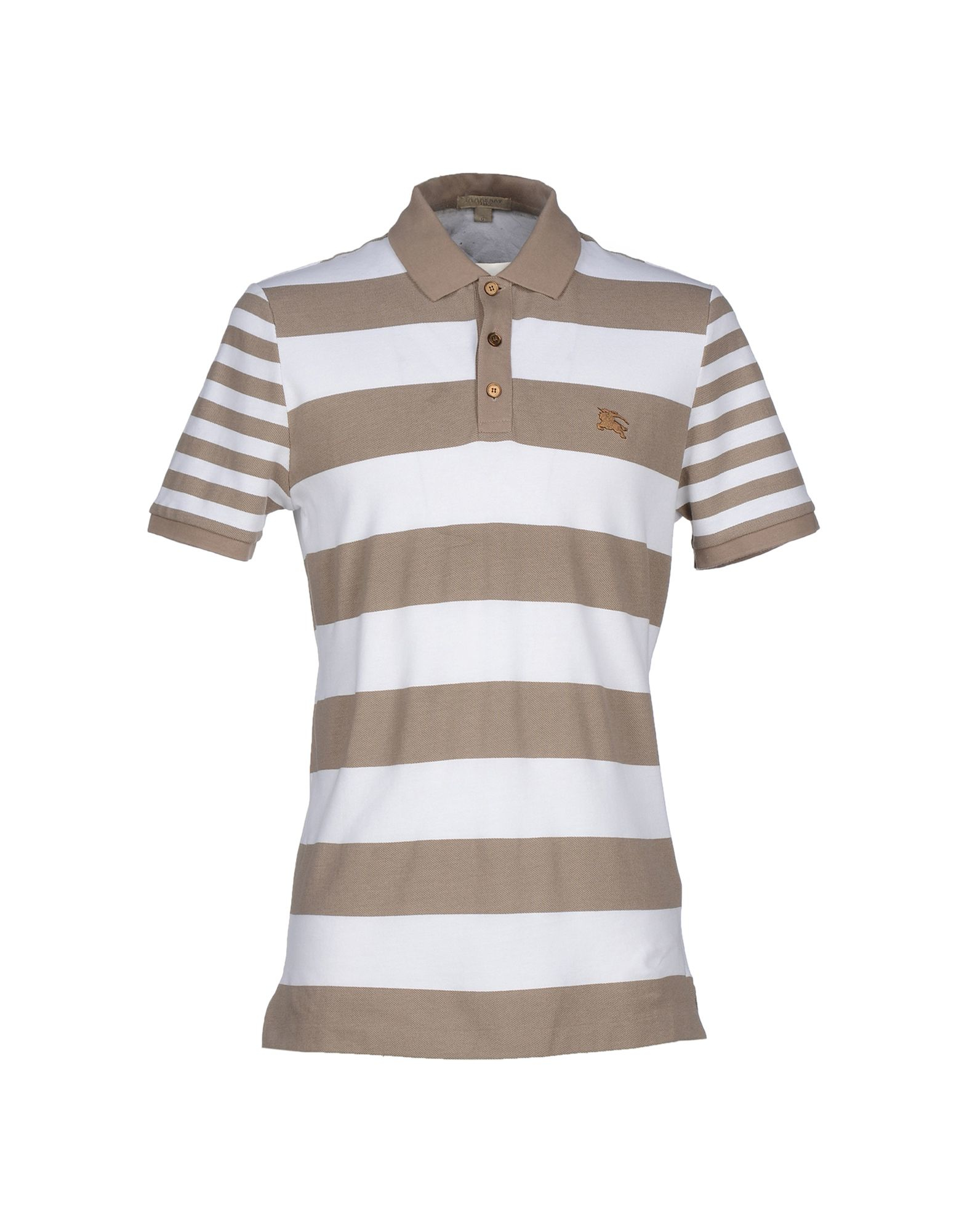 Burberry Brit Polo Shirt In Brown For Men Khaki Lyst