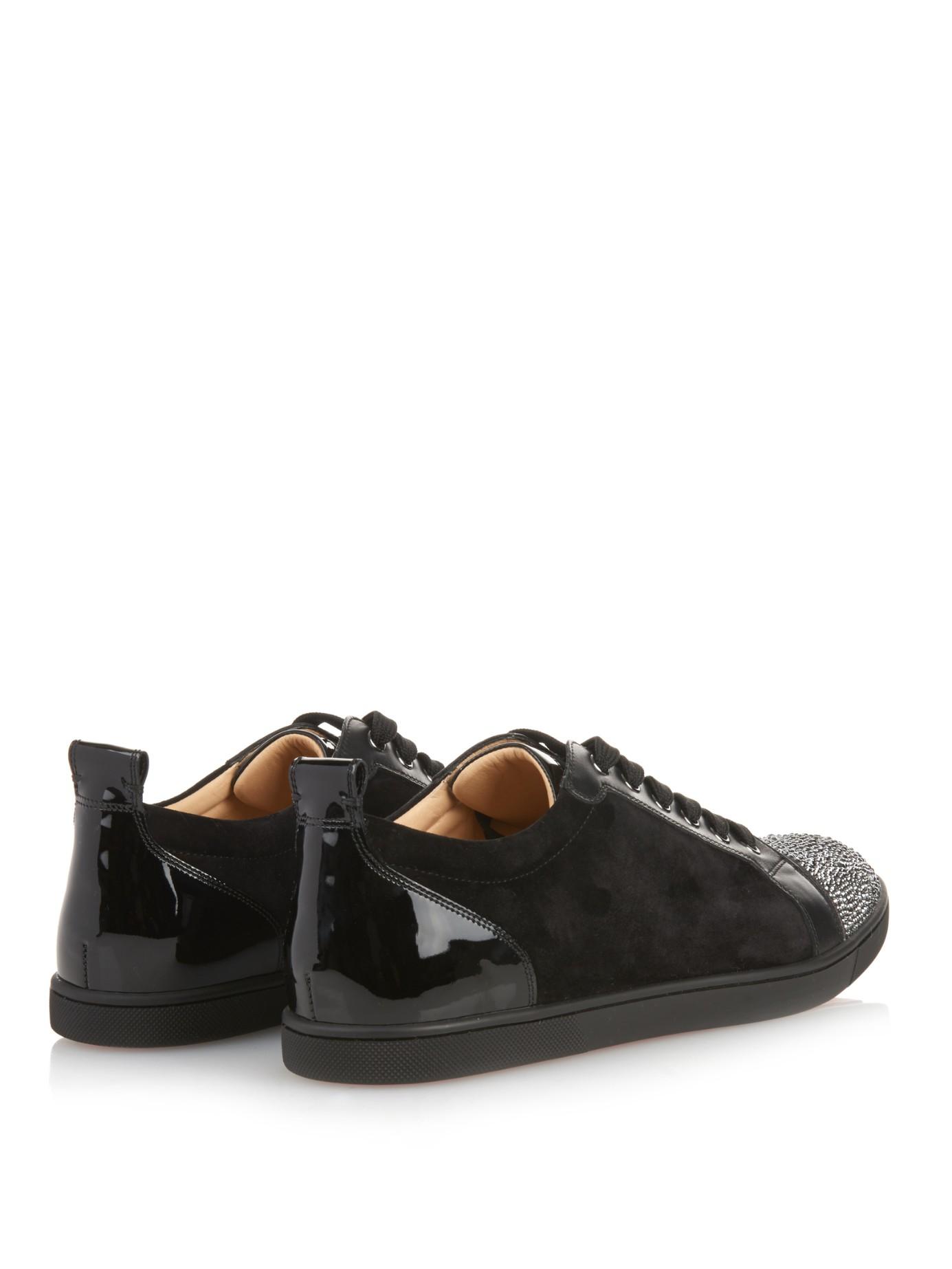 599d55e6f0e Artesur   christian louboutin suede sneakers Black Strass crystal
