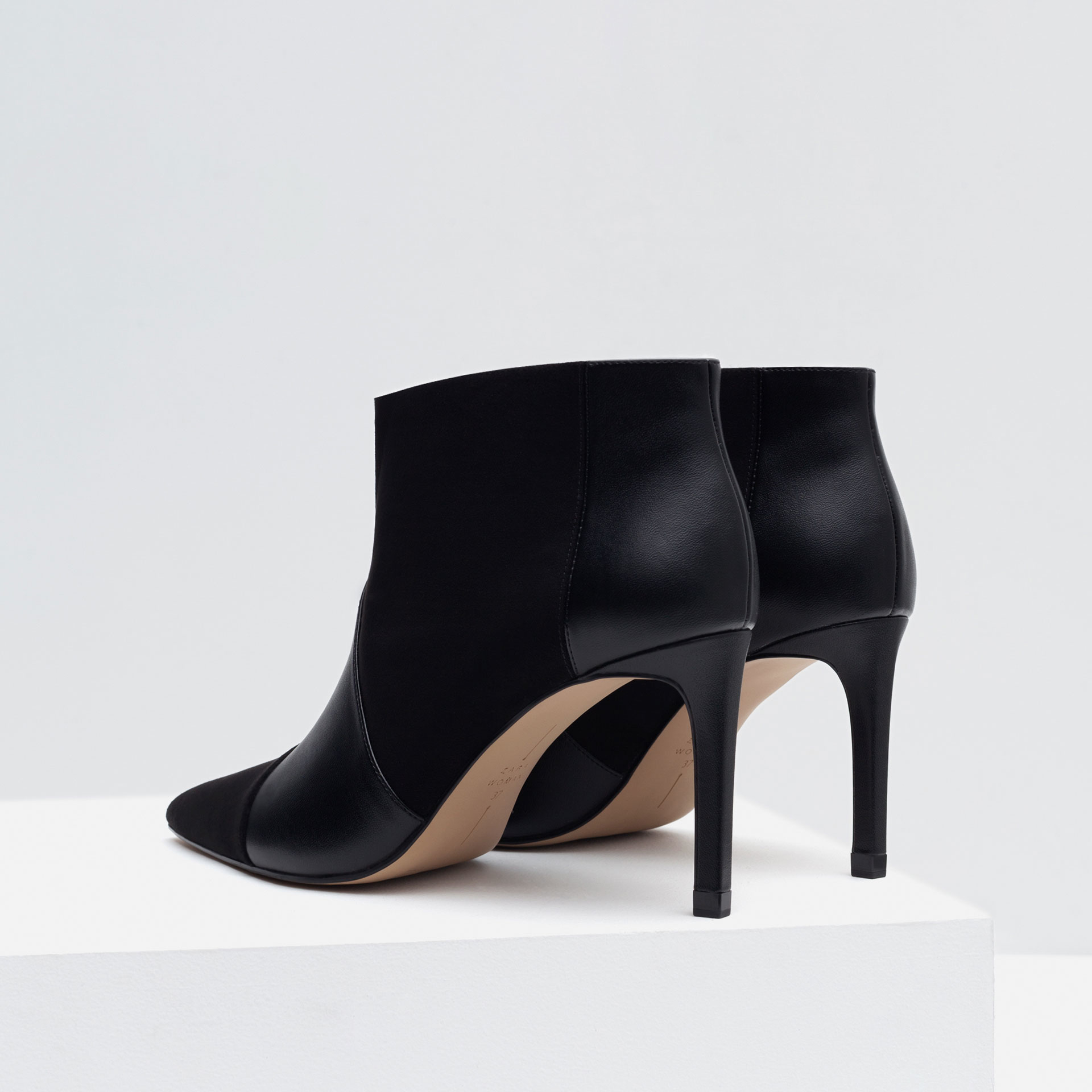 zara ankle boots with stiletto heel in black lyst