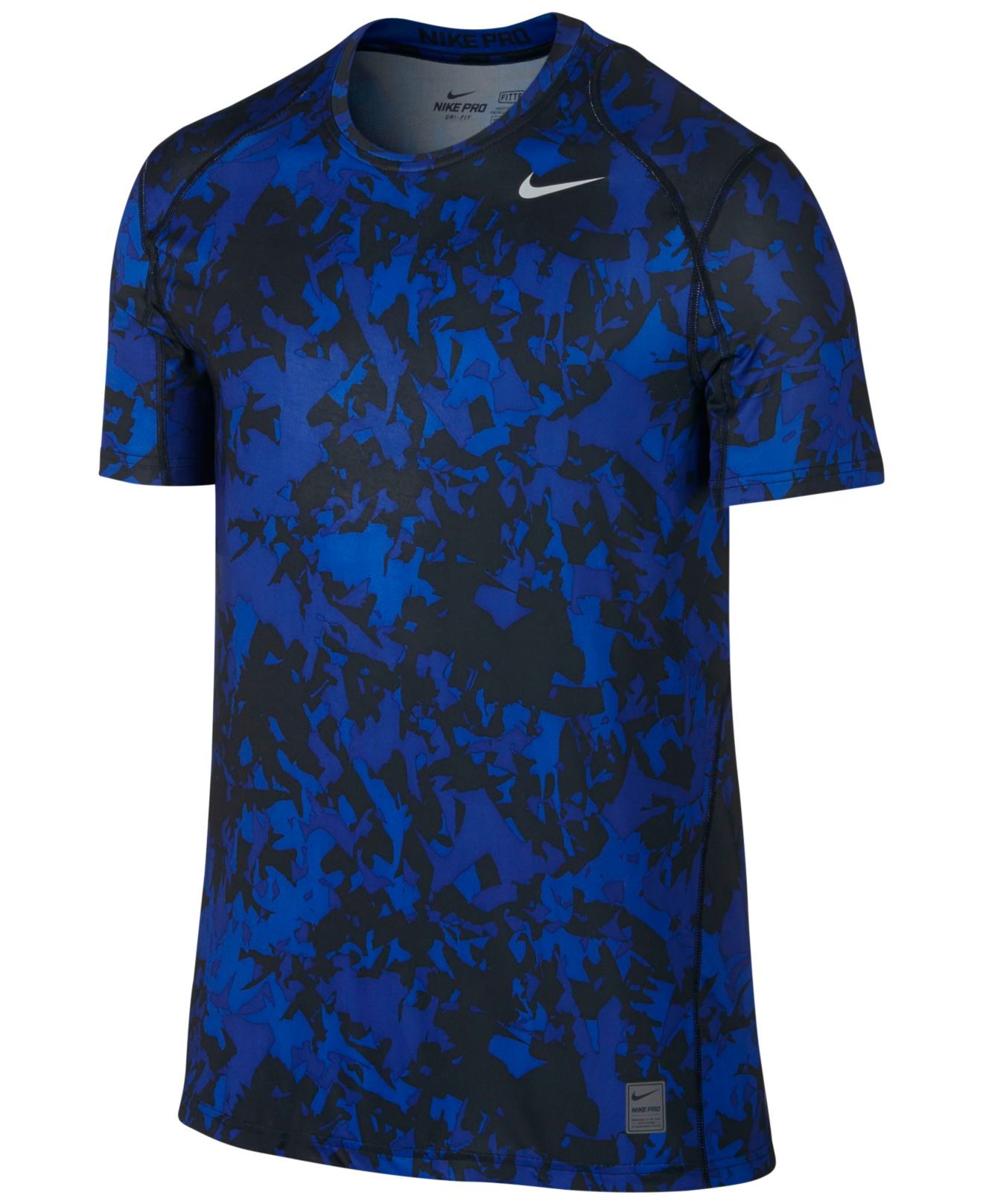 Nike Men 39 S Pro Cool Dri Fit Fitted Splinter Camo T Shirt