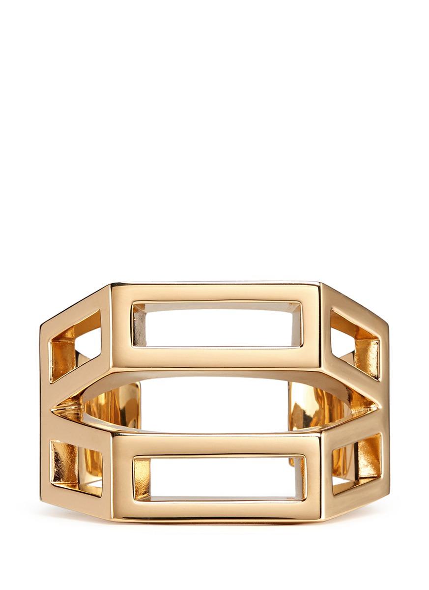 Chloé 'bianca' Geometric Cutout Cuff in Metallic
