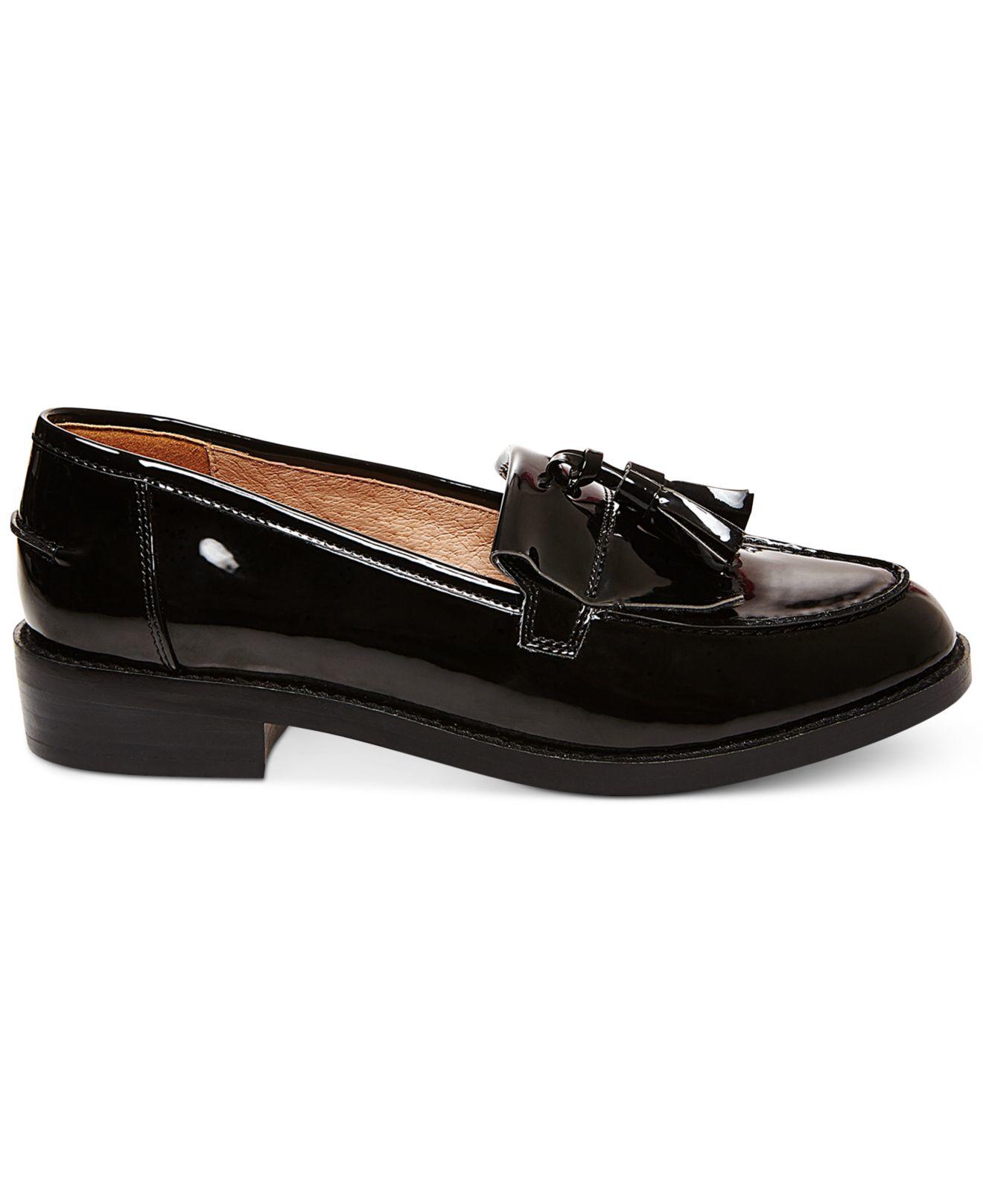 Steve madden Women's Meela Lug Tassel Loafer in Black | Lyst