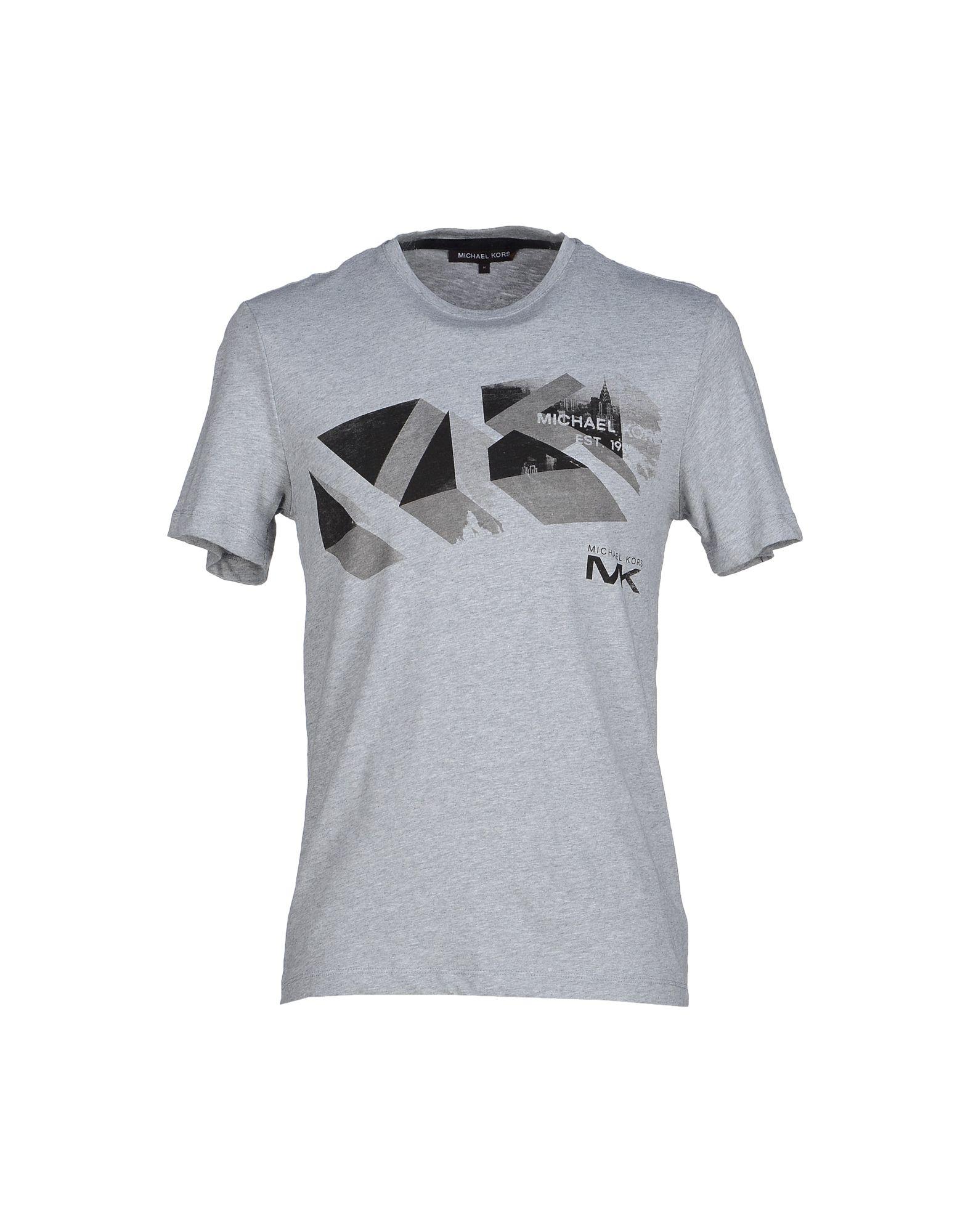 michael kors t shirt in gray for men light grey lyst. Black Bedroom Furniture Sets. Home Design Ideas